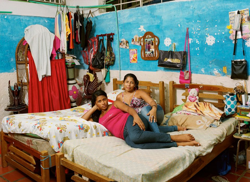 San Diego medium security Women's Prison in Cartagena. Rosa (L) has been sentenced to 10 years for criminal...
