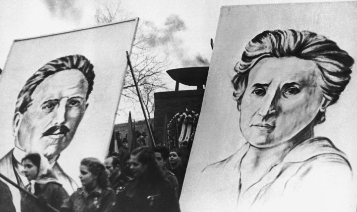 Karl Liebknecht and Rosa Luxemburg, co-founders of Germany's Spartacist League.