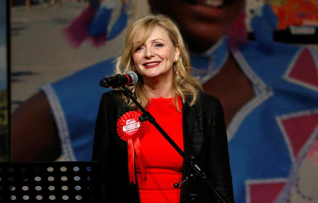 Tracy Brabin gives a speech after winning the by-election in Batley and Spen, the former constituency...