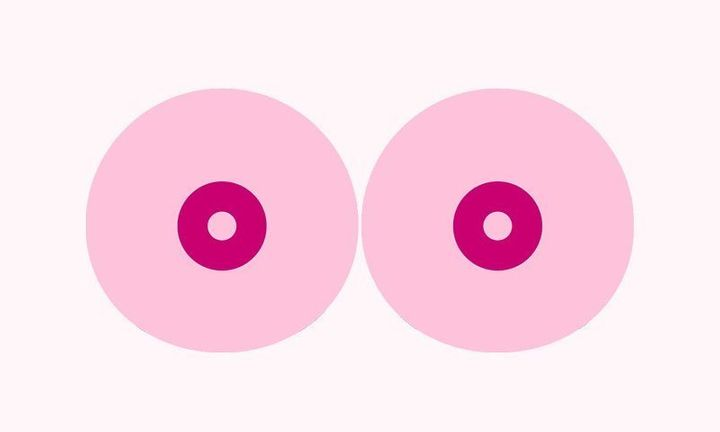 Cancerfonden's video featured two animated breasts.