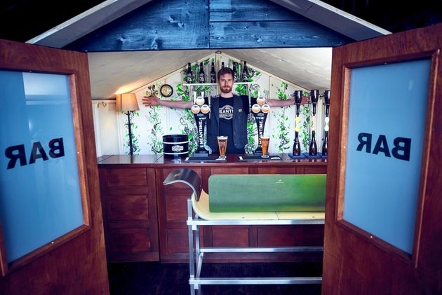 Britain S Smallest Pub Opens In Garden Shed