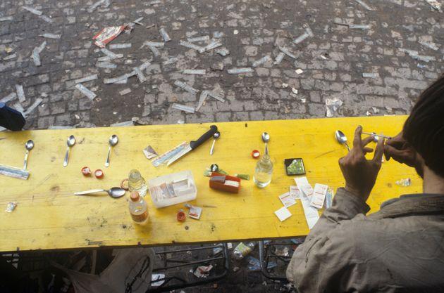 Platzspitz Park - 'Needle Park' - in Zurich in