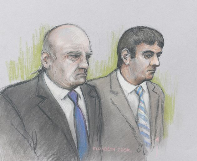 Driver Alan Smith (left) and Fake Sheikh Mazher Mahmood were found guilty at the Old Bailey this
