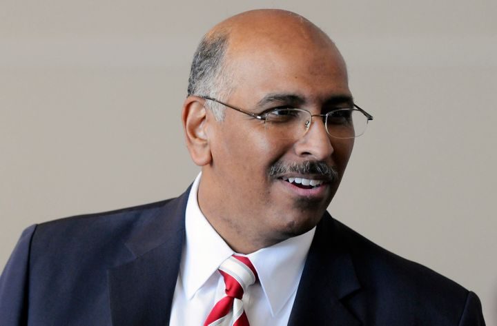 Former Republican National Committee Chairman Michael Steele in 2011. He reportedly has said he won't vote for 2016 GOP presi