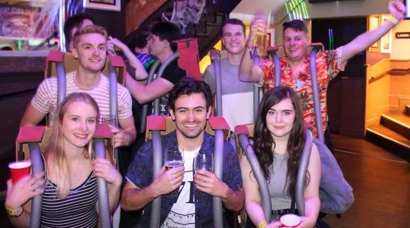 Nottingham University's student union has denied that the group were dressed as the crash