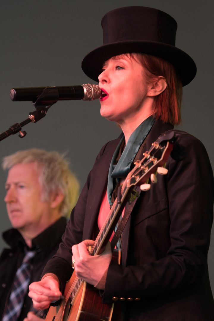 Suzanne Vega at Sands Point Preserve, performing on the Great Lawn of the Guggenheim Estate overlooking the Long Island Sound