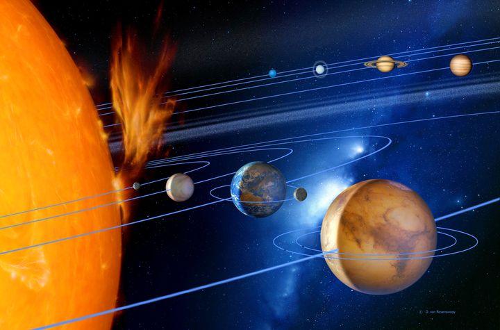 Thesolar system.