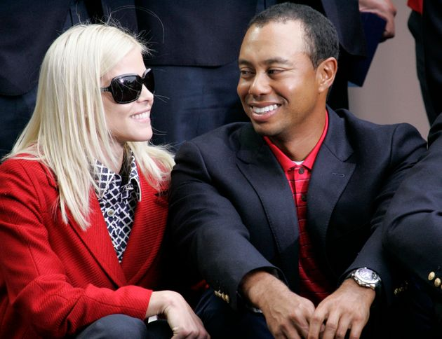 Tiger and Elin at the 2009 closing ceremonies for the Presidents Cup in San