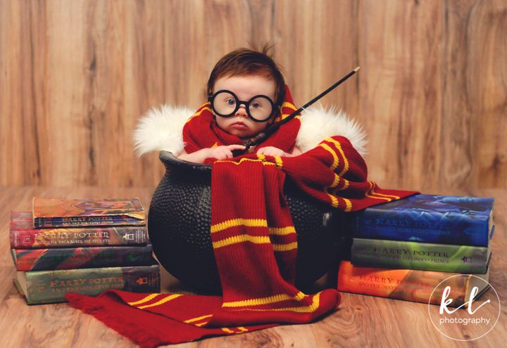 """""""She enjoyed trying to chew on the wand any chance she got, and her little face looked so silly when the glasses would slip down her nose,"""" said her mom."""