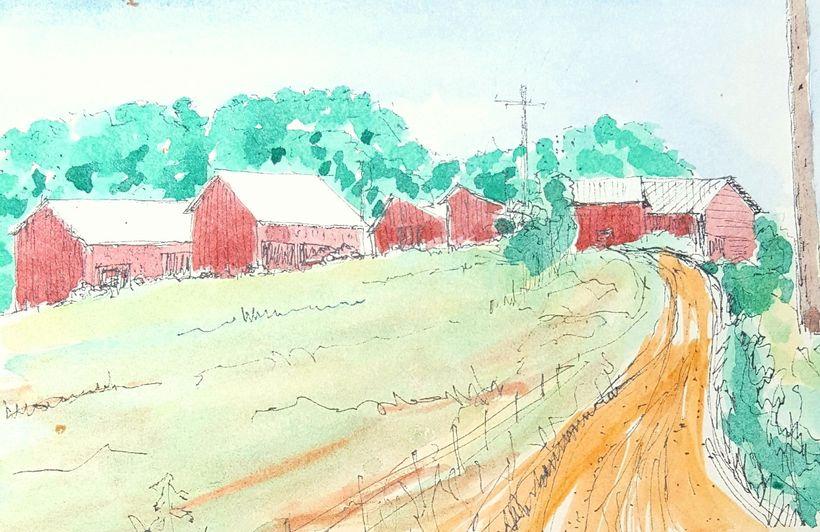 watercolor by Bill Boll (1930-2009)
