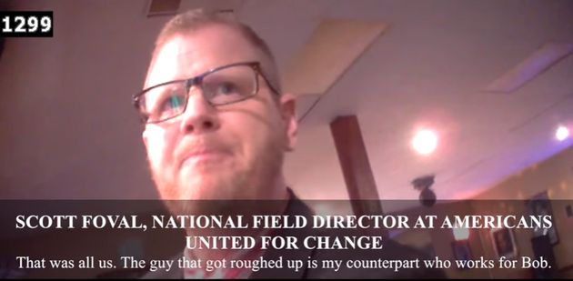 An image from James O'Keefe's new video, featuring the talkative operative Scott