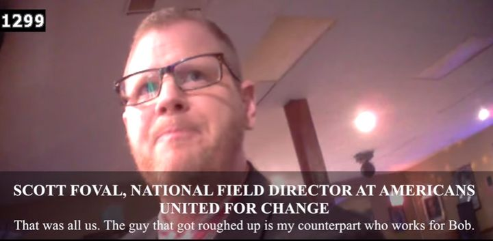 An image from James O'Keefe's new video, featuring the talkative operative Scott Foval.