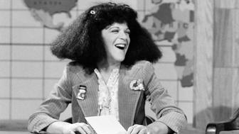 SATURDAY NIGHT LIVE -- Episode 8 -- Pictured:  Gilda Radner as Roseanne Rosannadanna during the 'Weekend Update' skit on December 22, 1979  -- (Photo by: Alan Singer/NBC/NBCU Photo Bank via Getty Images)