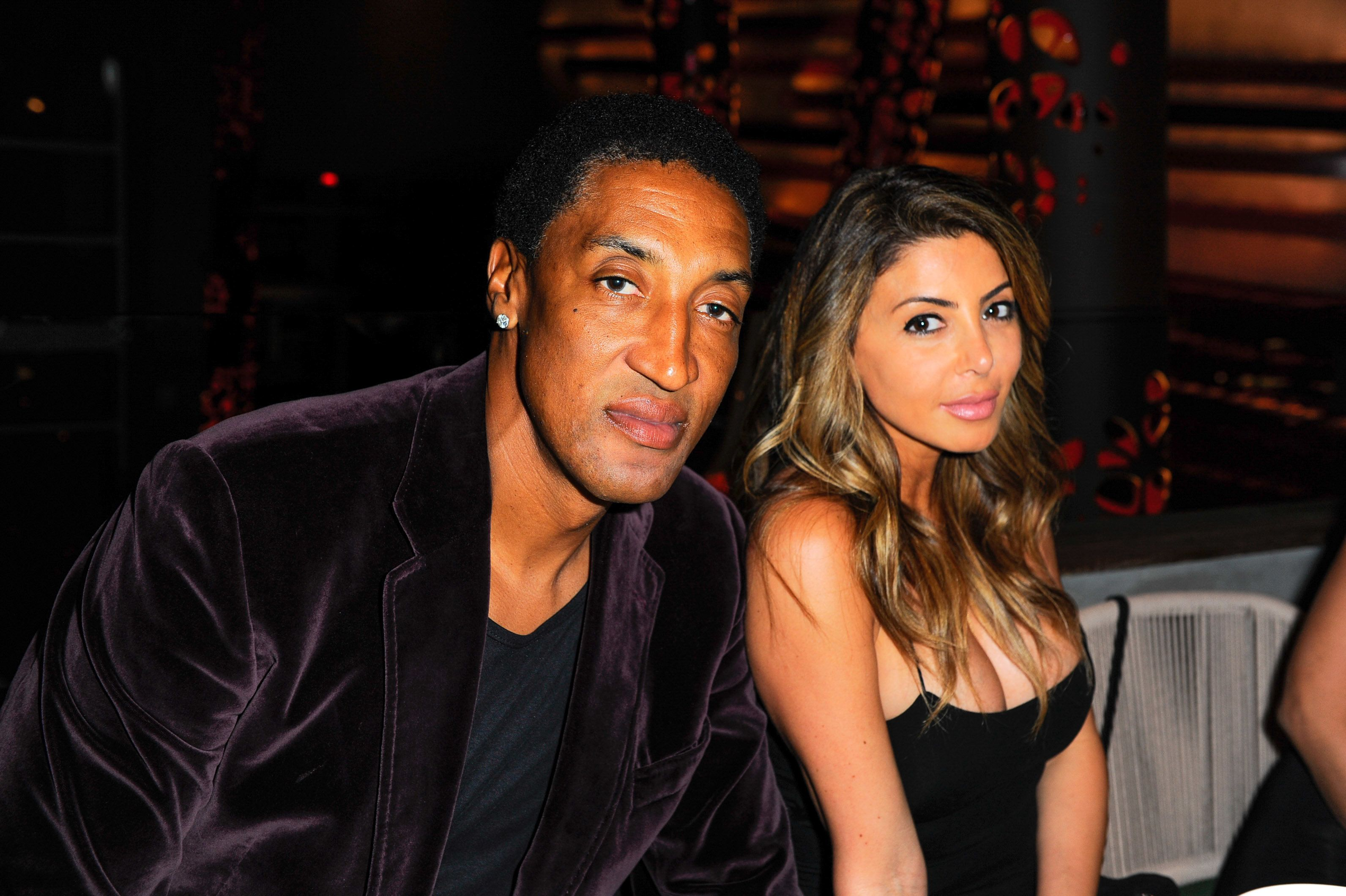 MIAMI, FLORIDA - MARCH 16: Scottie Pippen and Larsa Pippen attend the Avion Reserva 44 Celebrates Kygo's Haute Living Cover at Komodo on March 16, 2016 in Miami, Florida.  (Photo by Sergi Alexander/Getty Images for Haute Living)