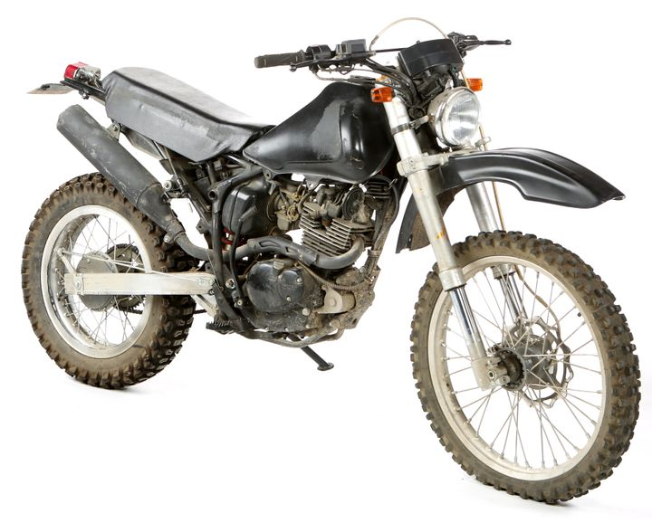 Jacob's motorcycle. ($5,000 - $7,000)