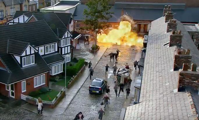 'Corrie' Super Soap Week Ends With (Literally) Explosive