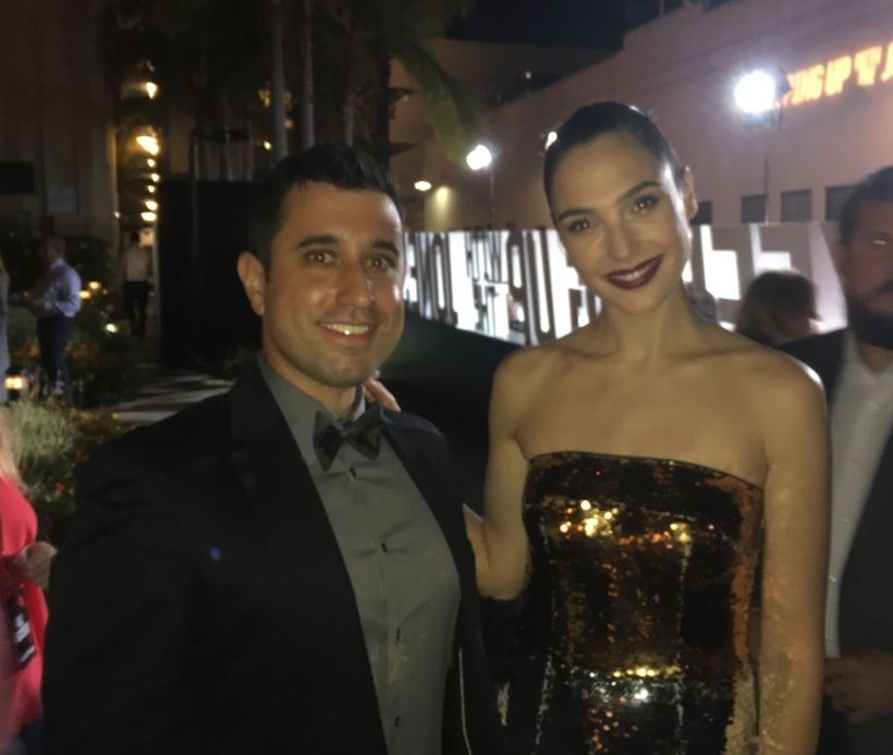 Jake and Gal Gadot (star of Keeping Up With the Joneses)