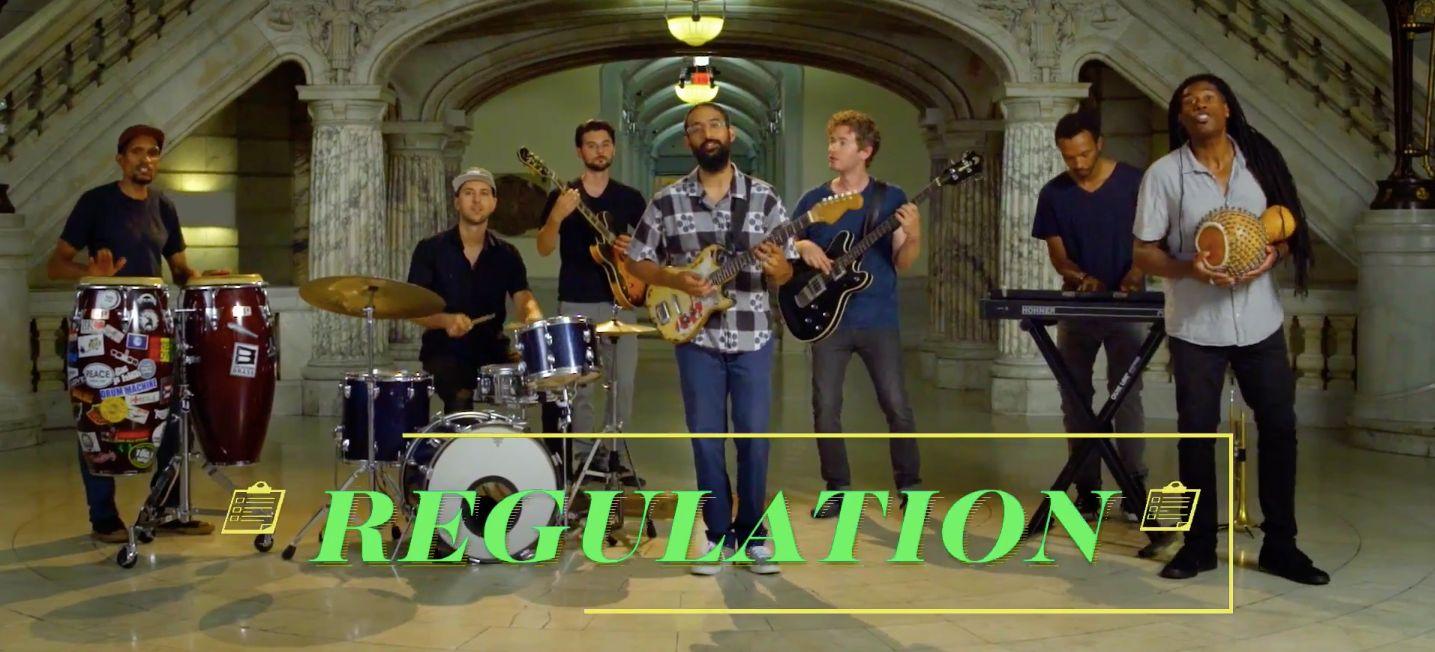 This music video pokes fun at governmental regulation