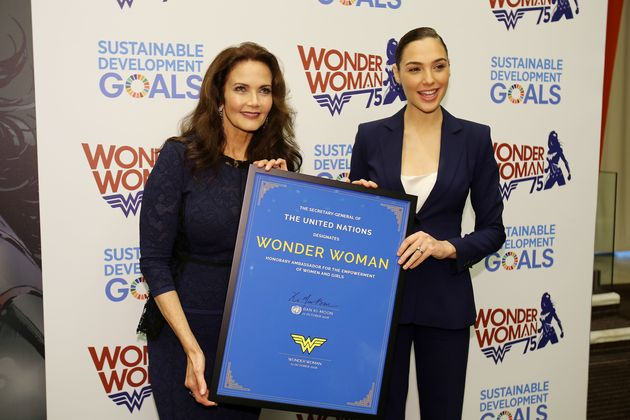 Lynda Carter, Gal Gadot accept announcement of Wonder Woman as UN Ambassador of
