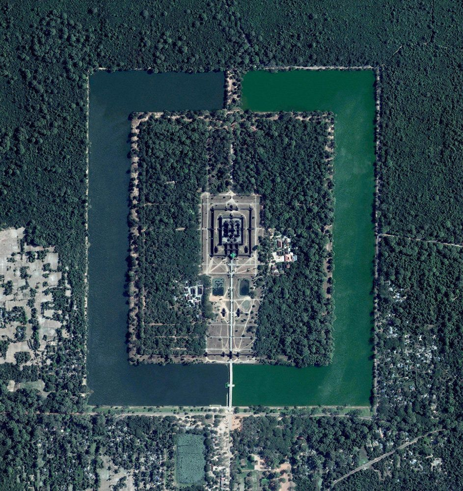 <strong>Angkor Wat</strong><br><br> Angkor Wat, a temple complex in Cambodia, is the largest religious monument in the world