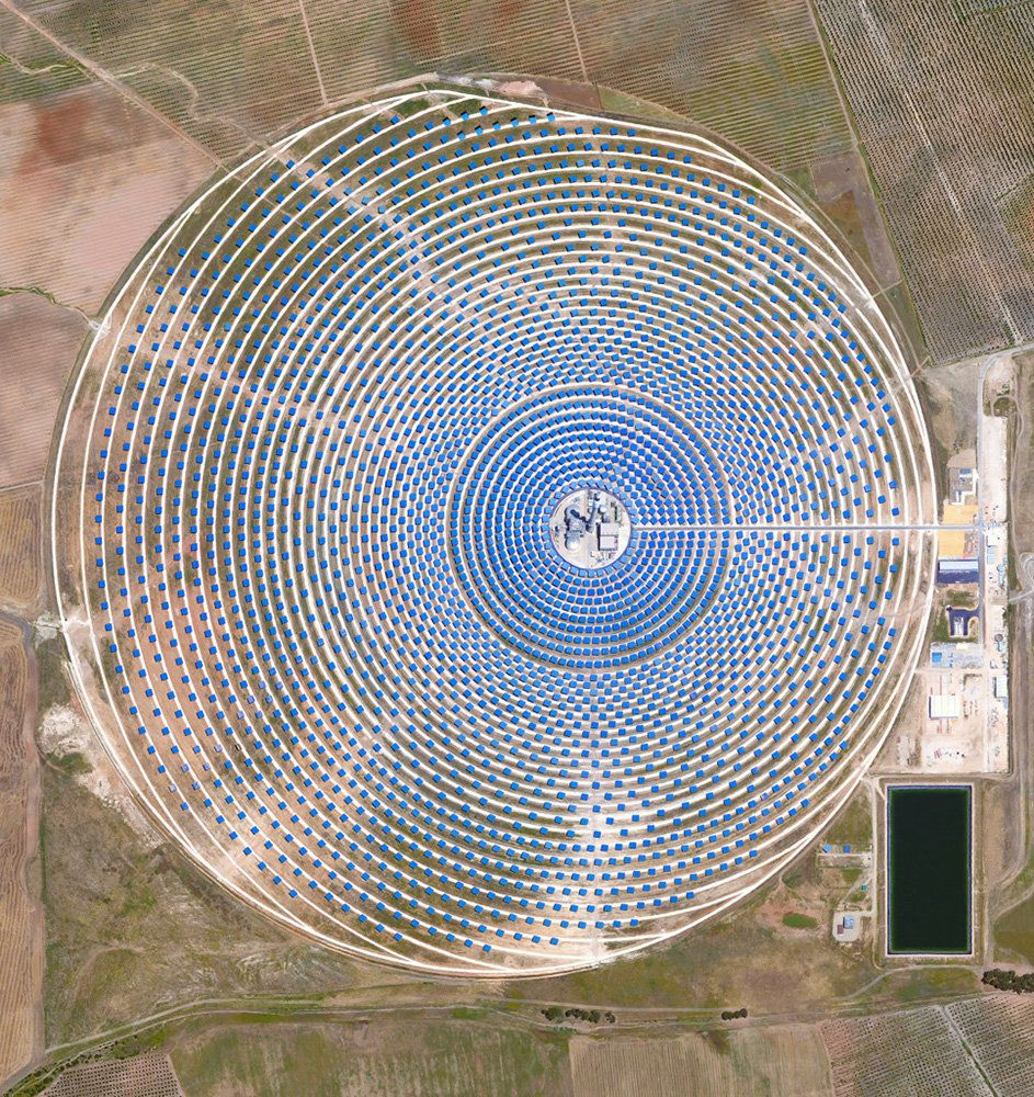 <strong>Gemasolar Thermosolar Plant</strong><br><br> This Overview captures the Gemasolar Thermosolar Plant in Seville, Spain