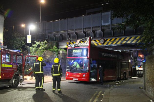 26 people were injured after a double-decker bus crashed into a railway bridge in Tottenham,