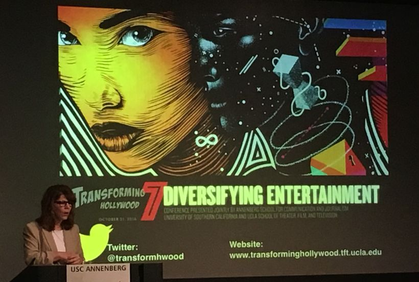 Transforming Hollywood 7 Conference, Professor Stacy L. Smith providing an overview of diversity in Hollywood
