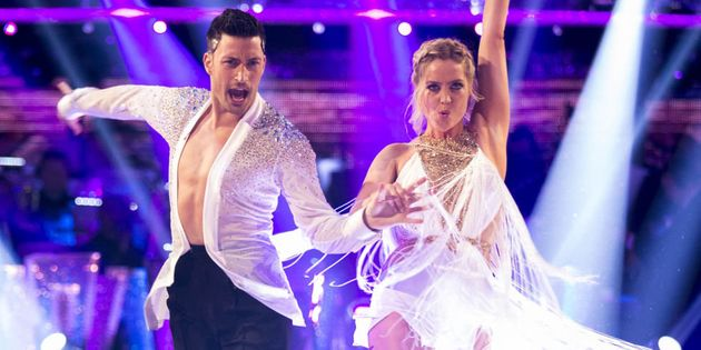Laura is partnered with Giovanni Pernice on the