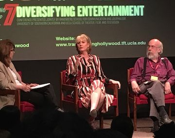 Melissa Rosenberg, Series Creator/Showrunner, Marvel's Jessica Jones, talking with Stacy L. Smith and Henry Jenkins