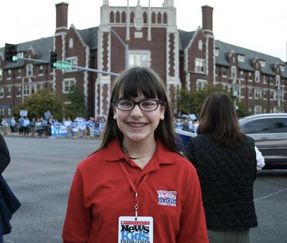 Esther Appelstein, 12, a reporter with ScholasticNews Kids Press Corps.