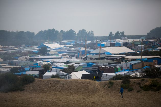 More than 50 child refugees have reportedly arrived in Britain from camps in Calais (pictured above)...