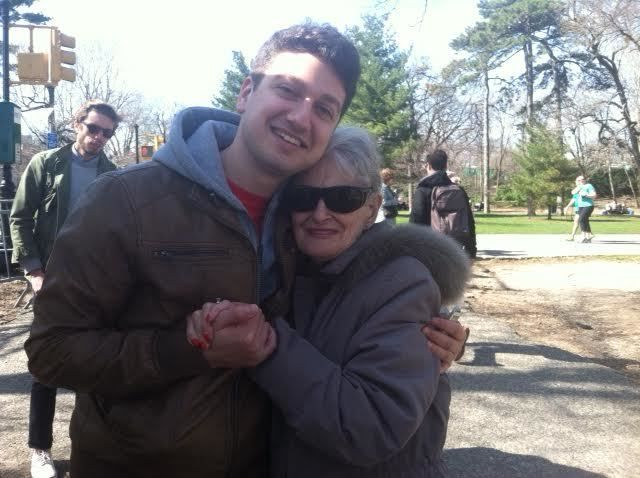 My grandmother and I in Prospect Park, 4/14/13.