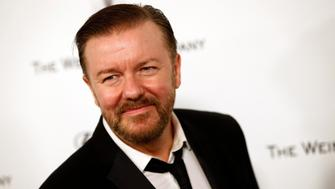 Actor Ricky Gervais arrives at the Weinstein Netflix after party after the 72nd annual Golden Globe Awards in Beverly Hills, California January 11, 2015.  REUTERS/Patrick T. Fallon   (UNITED STATES - Tags: ENTERTAINMENT) (GOLDENGLOBES-PARTIES)
