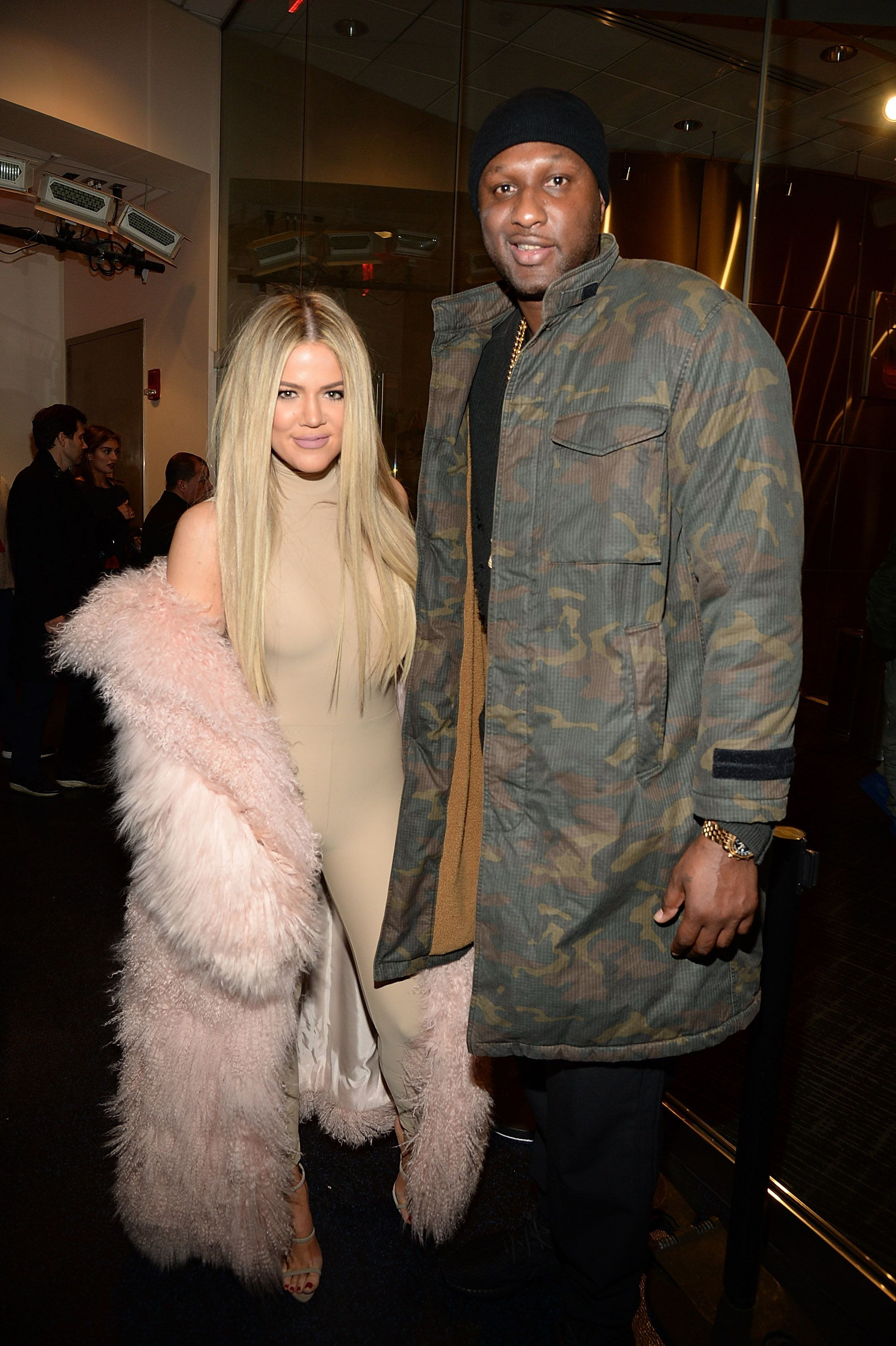 NEW YORK, NY - FEBRUARY 11:  Khloe Kardashian and Lamar Odom attend Kanye West Yeezy Season 3 at Madison Square Garden on February 11, 2016 in New York City.  (Photo by Kevin Mazur/Getty Images for Yeezy Season 3)