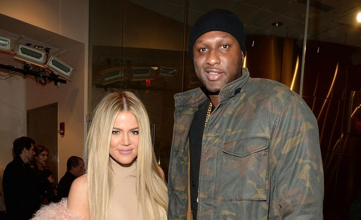Khloe Kardashian and Lamar Odom at the Yeezy Season 3 presentation in New York, Feb. 11, 2016.
