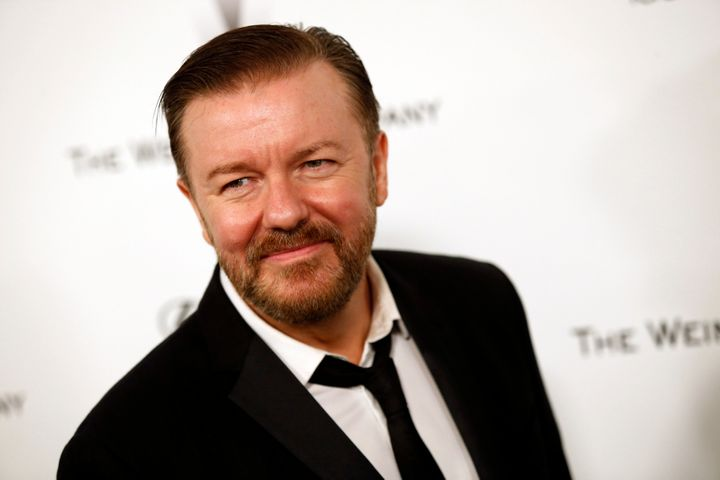 Ricky Gervais mocked Donald Trump's bid for the White House in an interview with Business Insider.