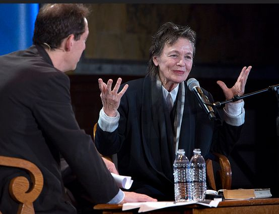 Paul Hodengräber and Laurie Anderson - Photo Courtesy of LIVEfromNYPL