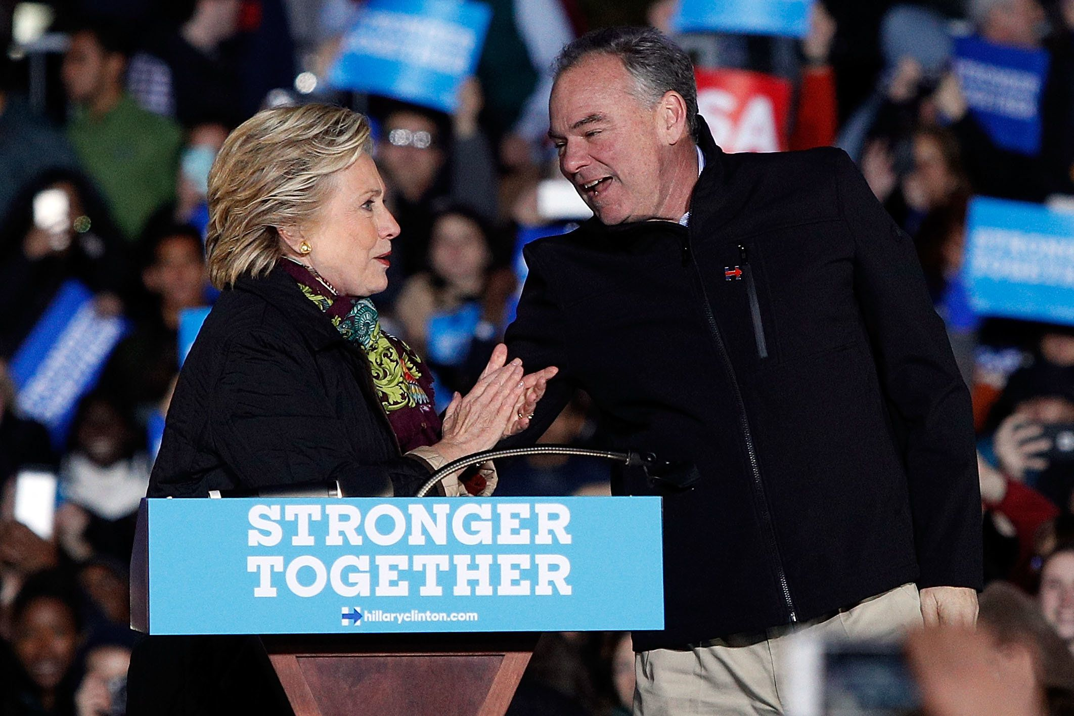 """Tim Kaine says he shares """"concerns and questions"""" with some skeptics of AT&T's Time Warner bid."""