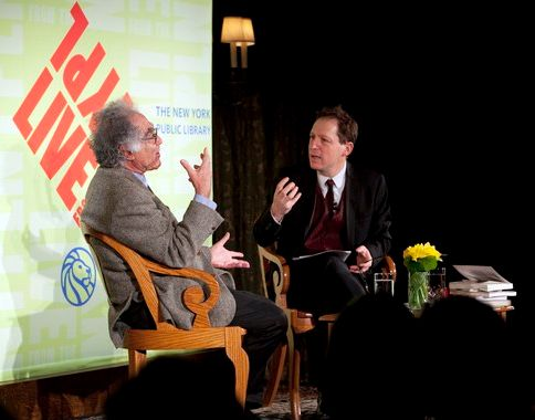 Carlo Ginzburg and Paul Holdengräber - Photo Courtesy of LIVEfromNYPL