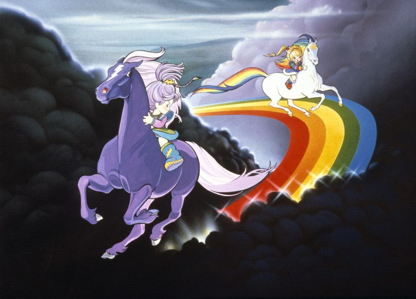 """Stormy and Rainbow Brite race in """"Rainbow Brite and the Star Stealer"""""""