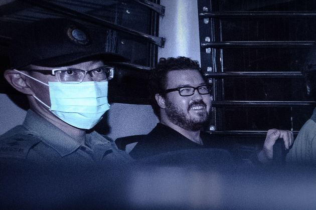 British banker Rurik Jutting (right) has pleaded not guilty to murder but guilty to manslaughter on the...