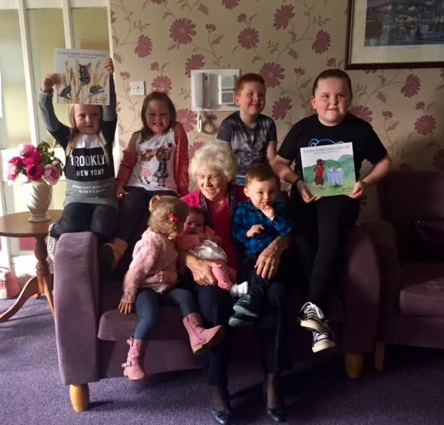 Joan Porter and her grandchildren.