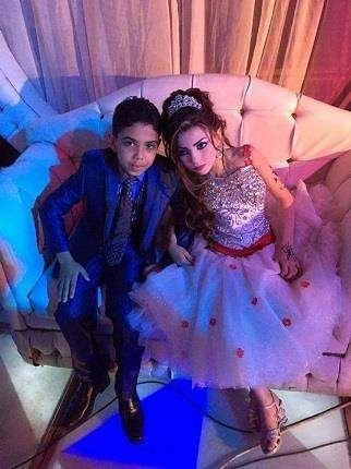 The engagement of Omar, 12 and his cousin Gharam, 11, was announced by Omar's father Nasser