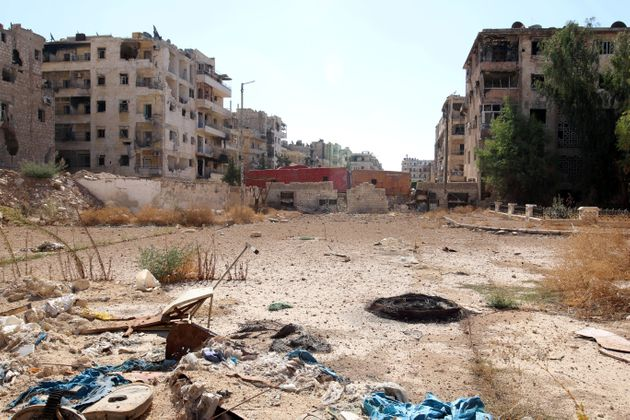 The Syrian city of Aleppo has been heavily damaged during the ongoing war in the
