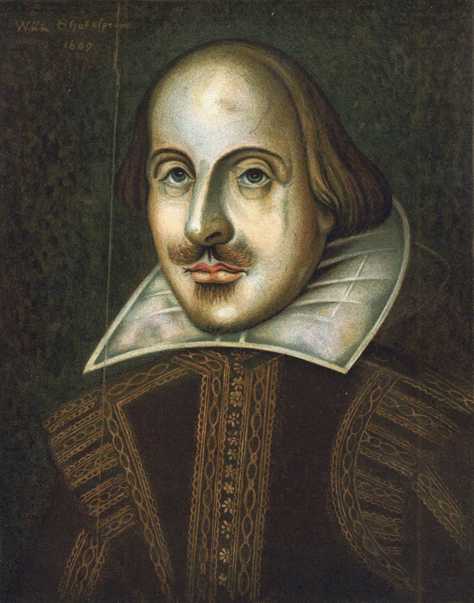 Portrait of English playwright, William Shakespeare
