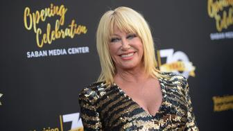 LOS ANGELES, CA - JUNE 02:  Actress Suzanne Somers attends the Television Academy's 70th Anniversary Gala on June 2, 2016 in Los Angeles, California.  (Photo by Jason Kempin/Getty Images)