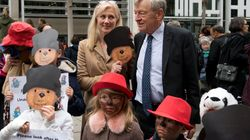 Children Dress As Paddington Bear To Protest Child Refugees' Uncertain