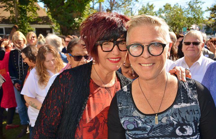 Roux Provincetown owners Ilene Mitnick (left) and Alli Baldwin originally envisioned the event as a intimate ceremony to rene