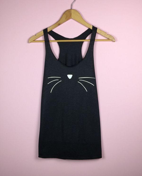 "Cat Whiskers Tank, $21,&nbsp;<a href=""https://www.etsy.com/listing/260926956/cat-face-shirt-cat-lover-gift-cat-face?ga_order="