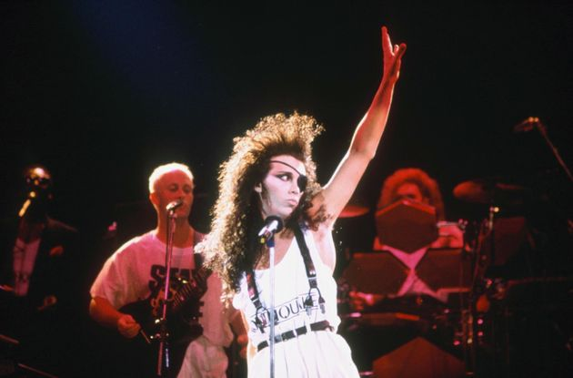 Pete in 1985, performing with his Dead Or Alive